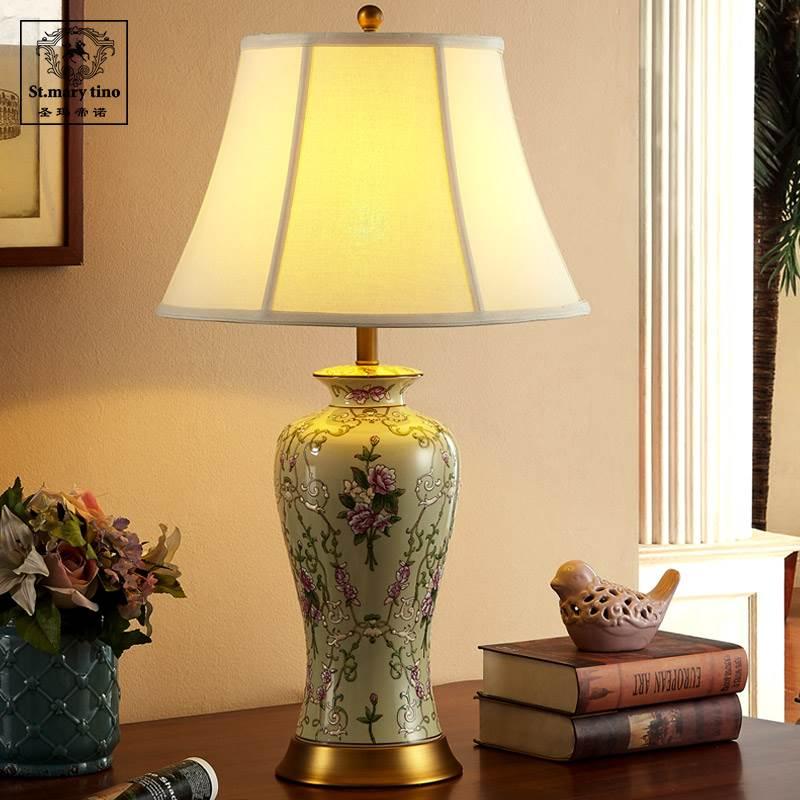 Здесь можно купить  European style famile rose home and hotel ceramic table bedside lamps  Свет и освещение