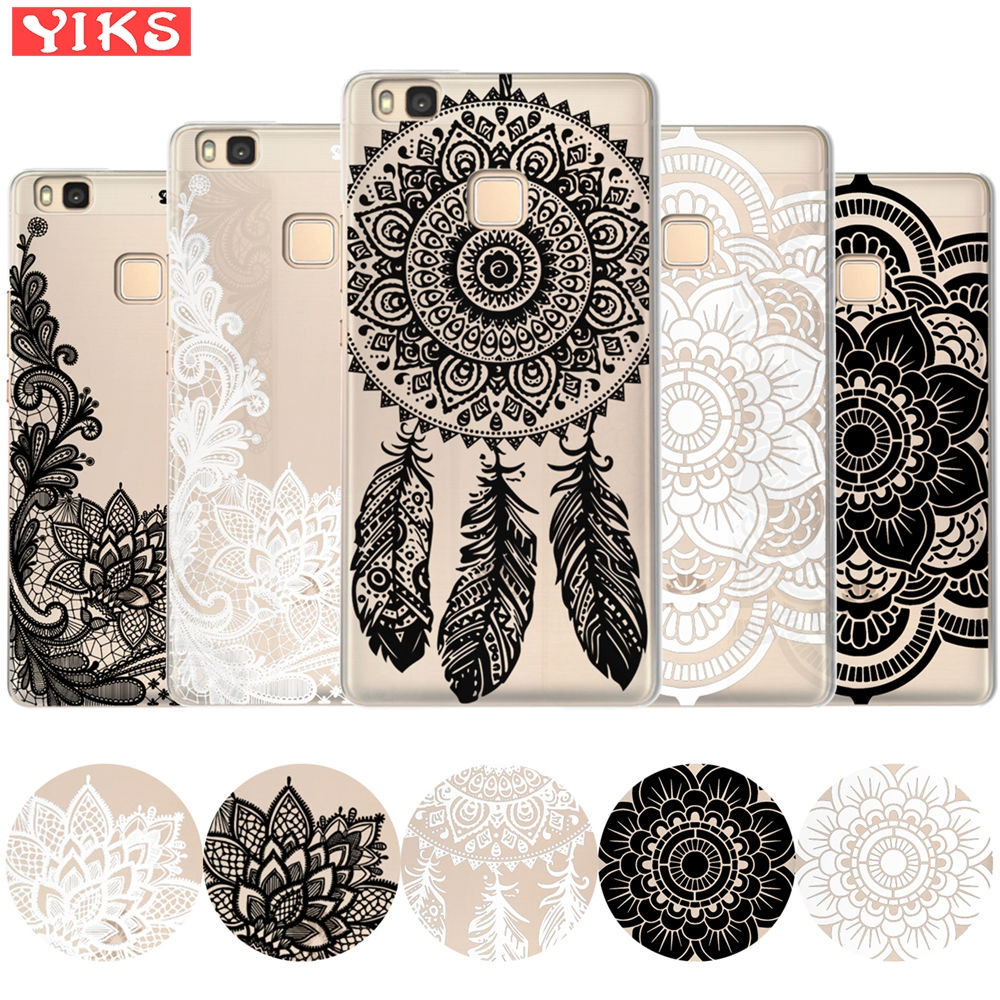 Mandala Flower Case For <font><b>Huawei</b></font> Honor Mate 10 9 8 P20 P10 P9 P8 Lite Pro Plus 7X Y3 Y5 <font><b>Y6</b></font> II Y7 <font><b>2017</b></font> Cover Case Soft Silicon Etui image