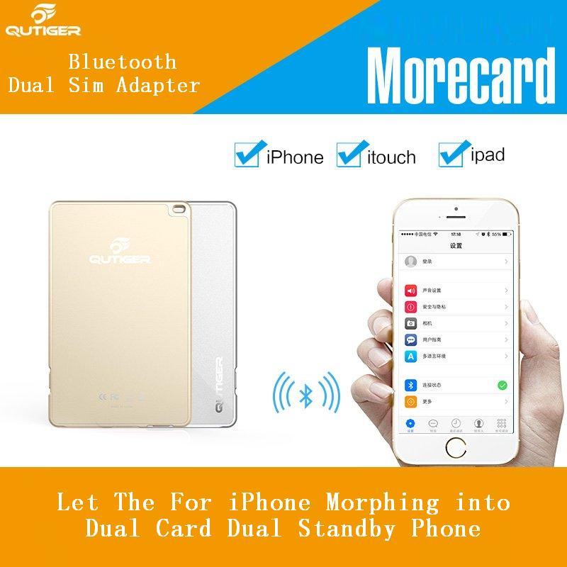 Bluetooth Multi Two Active Sim Card Adapter For iphone 6 6s 7 8 plus
