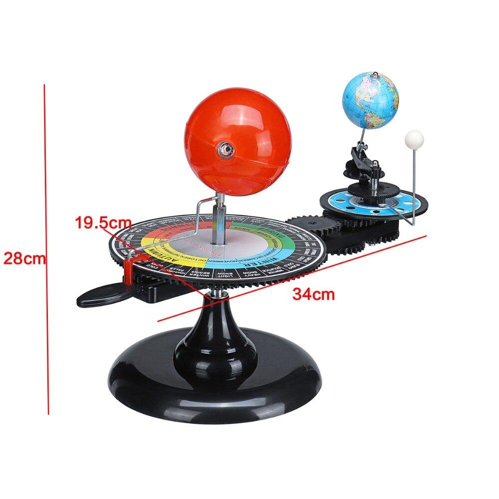 Système solaire Globes rotatif terre soleil lune planétarium Orbital modèle géographie astronomie Science éducation enseignement trousse d'outils - 4