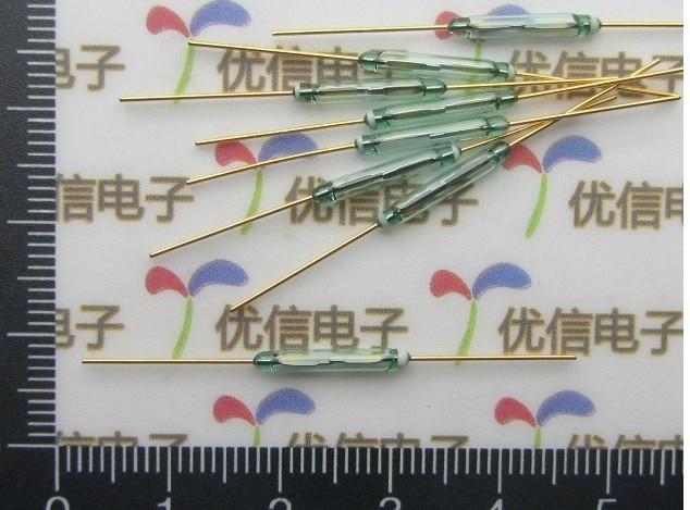 Позолоченный запаянный в стекло геркон переключатель/магнитно управляемый переключатель 2*14 мм