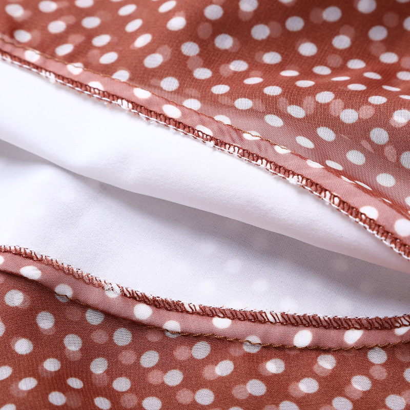 Chic Dot Oficina Alta Partido Señora De Ruffles Cintura Impresión Borgoña Trabajo Mujeres Elegante Falda Polka Bodycon Sirena r5SPYqrw