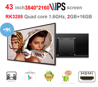 43 IPS Android Touch Screen All In One Pc Rockchip3288 Quad Core 2GB DDR3 16GB Nand
