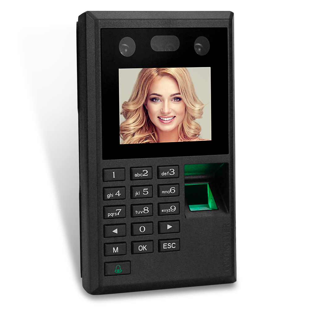 New 2.8inch Facial Recognition Biometric Fingerprint Attendance Management System Time Clock Access Control Keypad Password USB(China)