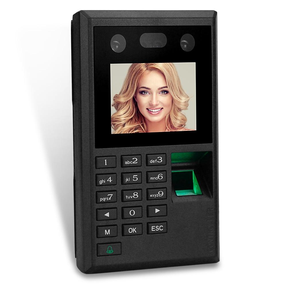 New 2.8inch Facial Recognition Biometric Fingerprint Attendance Management System Time Clock Access Control Keypad Password USB