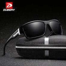 Dubery óculos de sol aviador polarizado, masculino, esportivo, para pesca, 2017, designer de marca, com zíper, caixa 2071