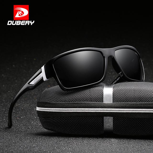 DUBERY  D2071 Men Polarized Sunglasses with   Zipper Box