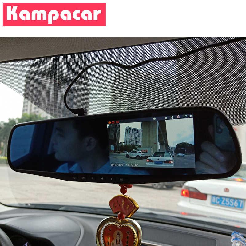 """Kampacar 4,3 """"Зеркальный Цифровой видеорегистратор для автомобиля камера авто видеорегистратор регистратор двойной объектив видео регистратор Full HD 1080P заднего вида два видеорегистратора"""