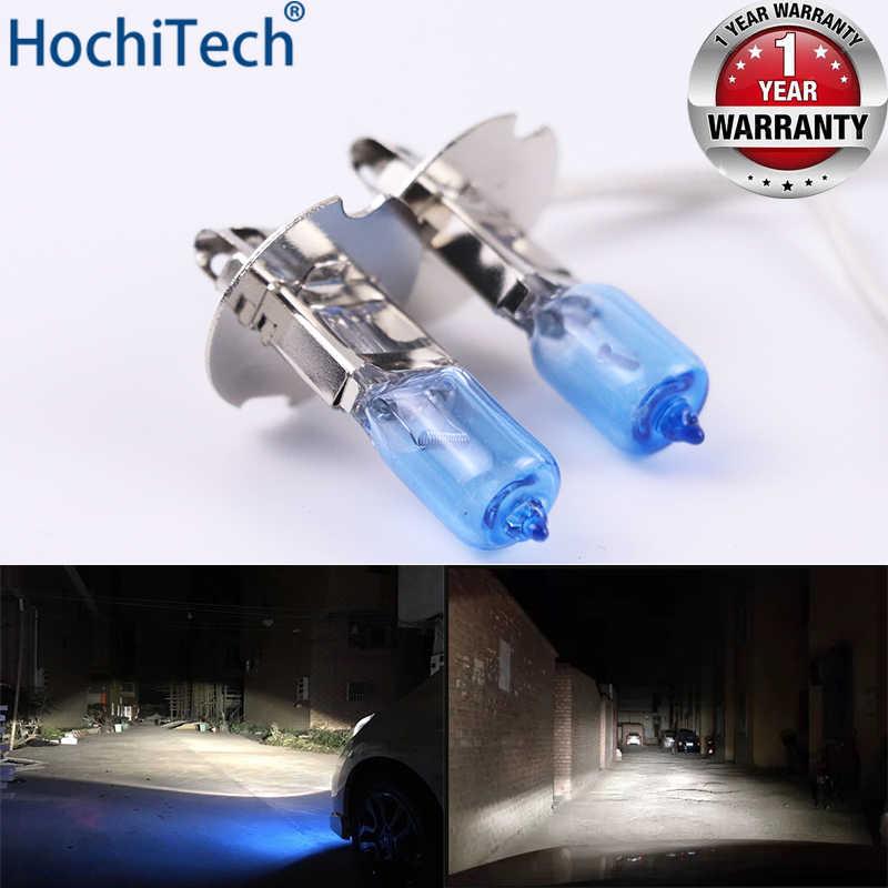 Phare de voiture Super lumineux halogène ampoule 1 pièces H3 12V 6000K clair brouillard lumières 3000Lm 100W xénon bleu foncé lampe de conduite