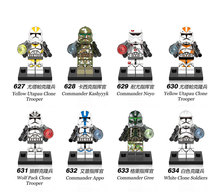 Single Sale legoingly Star Wars compatible series Building Blocks Toys Clone trooper commander figures DIY toys for children(China)