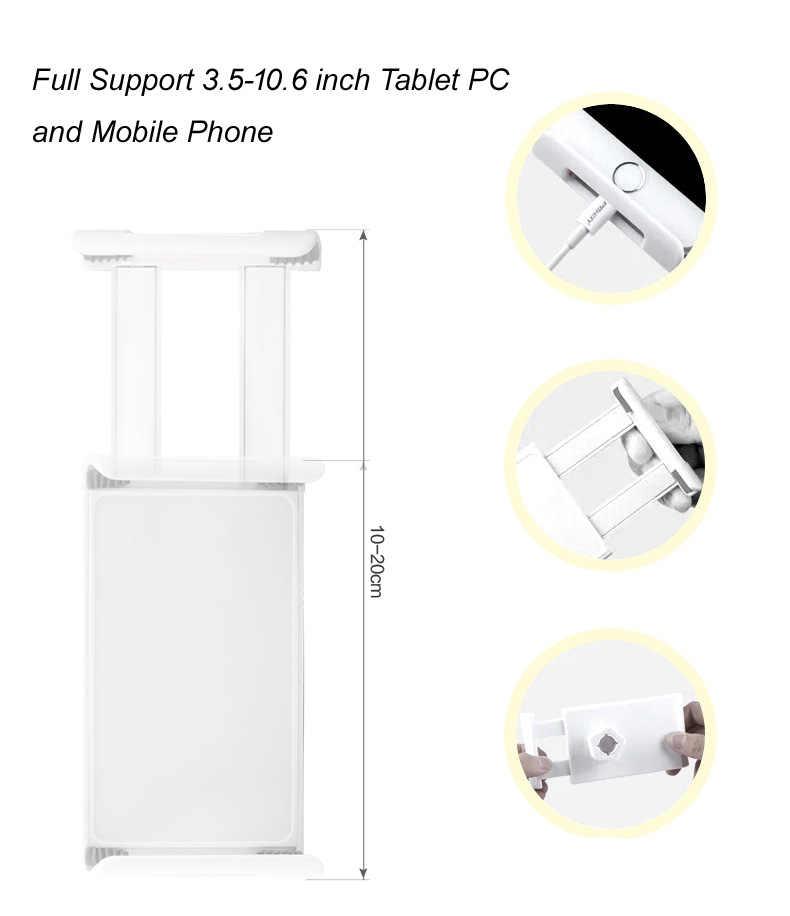 360 Rotação Ajustável 100 cm Tablet PC Suporte de Metal Cheia Cama Preguiçoso Suporte Do Telefone Suporte de mesa 3.5-10.6 polegada para iPad Air Mini 4