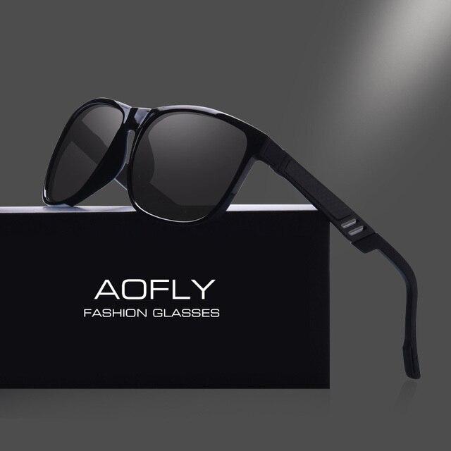 AOFLY Clásico Hombres gafas de Sol Polarizadas Polaroid Lente HD Gafas de  Sol Macho Cuadrado de ffc68d1a0990