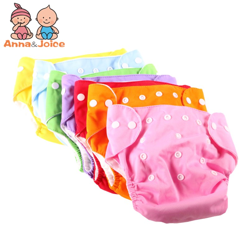 Hot Sale 5 Pcs/Lot Adjustable Breathable Baby Cloth Diaper Reusable Baby Nappies Diapers Washable 7 Colors Cotton Ctrx0009