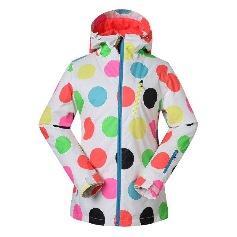 Prix pour Gsou Snow femmes de combinaison de ski imperméable coupe-vent respirant ski vestes sports de Plein Air camping thermique chaud vêtements
