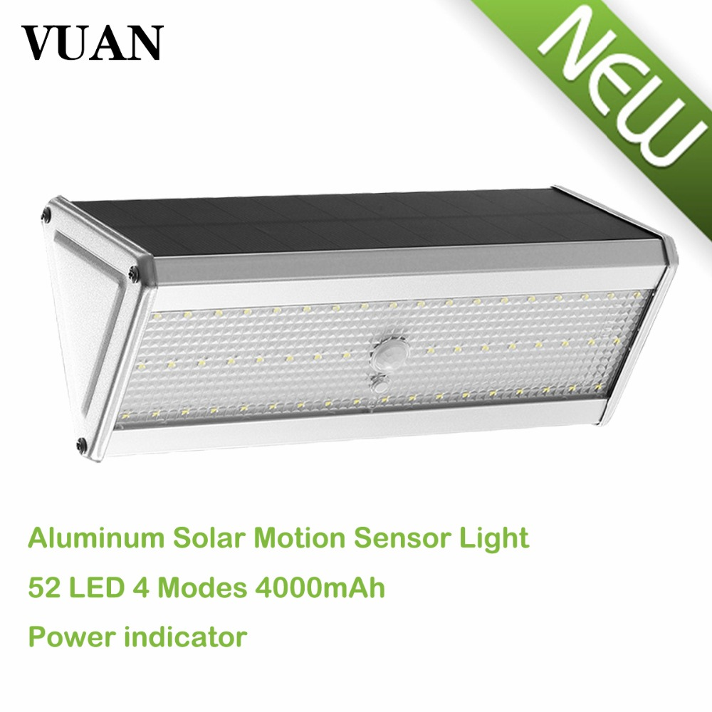 52 LED Motion Sensor Solar Lights With Remote Controller Four  Working Modes Bright Lamp Waterproof Light For Garden ds 360 solar sensor led light black