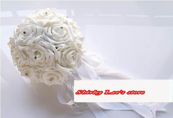 Novo !!! 8 X vrtnice iz čudovite pene iz diamante neveste cvetlični - Prazniki in zabave - Fotografija 3