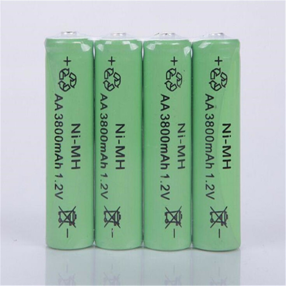 GTF 1.2V Ni-MH AA rechargeable 3800mAh 2A neutral AA rechargeable battery For LED Flashlight Torch AA Baterias Bateria