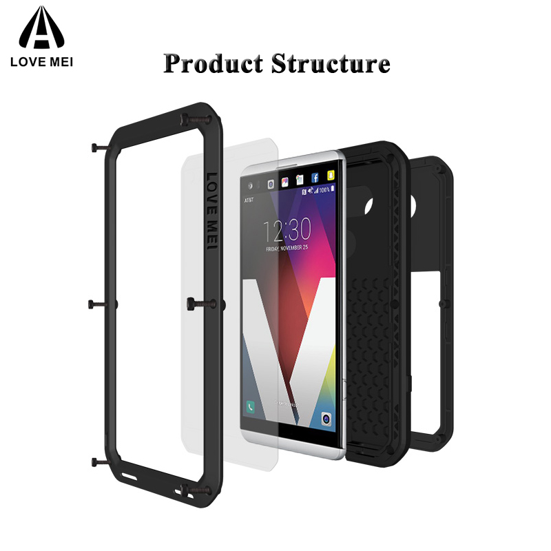 Image 2 - Love Mei Metal Case For LG V30 Plus V35 V40 V50 ThinQ Shockproof 