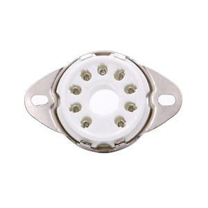 Image 2 - 12PCS 9PIN B9D TUBE SOCKET Cermaic Valve Base Magnoval for EL504 EL519 PL519 EL509 7868 6LQ6 Vintage Audio Amplifier HiFi DIY