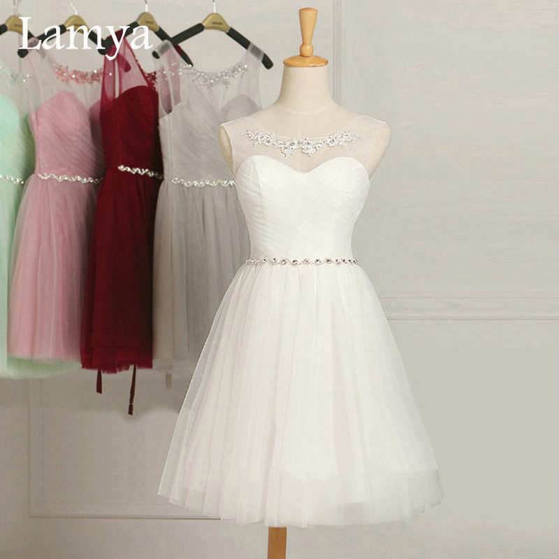 Pink Short Wedding Dresses : Buy colors customized cheap pink short chiffion bridesmaid dresses