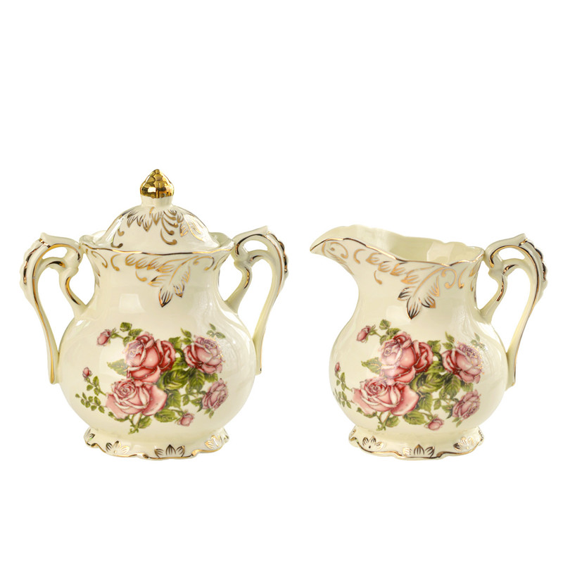 Yolife 350 ml Ivory Ceramics Sugar bowl Salt Condiment honey Jars makers for Kitchen honey pot Tool