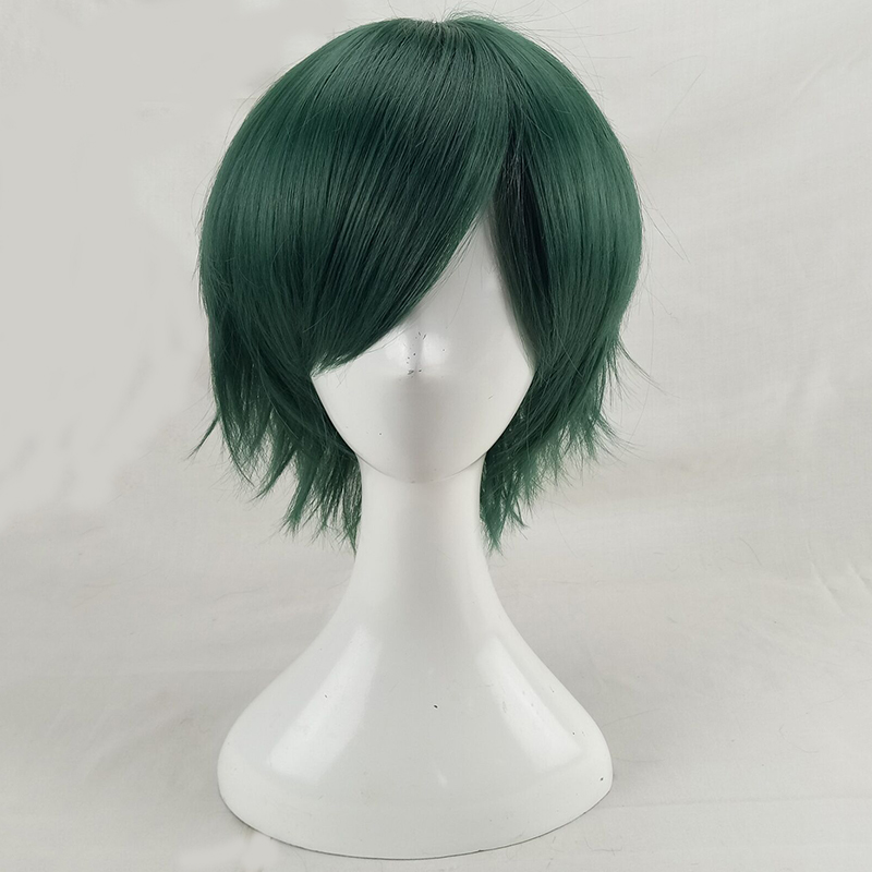 HAIRJOY Synthetic Hair Man Mint Green Layered Short Straight Male Cosplay Wig Free Shipping 5 Colors Available 3