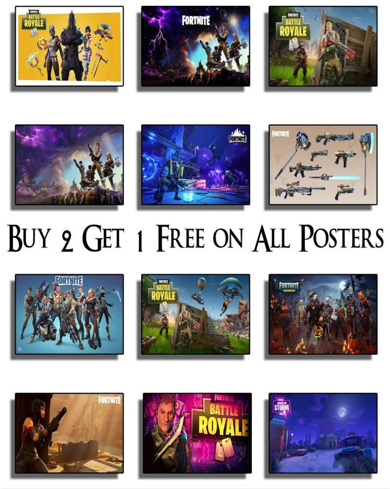 Fortnite Gaming Poster Print Wall Art Xbox PS4 Game Console Online Geek Poster Wall Painting Canvas Art Wall Pictures For Livin