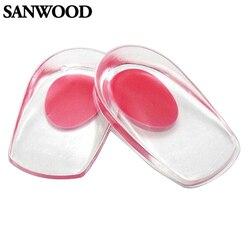 2016 Novo Copo do Salto do Gel Sapatos Palmilhas Almofada de Massagem Almofadas Inserções Heel Pain Spur Silicone 9IJ2
