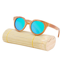 2017 Wooden New Sunglasses Cat Eye Retro Coating Polarized Bamboo And Wood Glasses Pure Handmade Sunglasses Za05