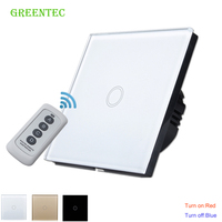 One Way Electric Touch Wall Switch 433 Mhz International Touch Screen Wall Light Switch For Automation