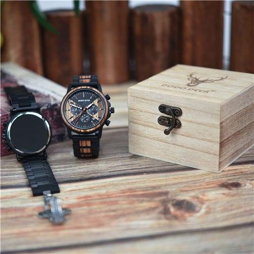 DODO DEER Men's watches Luxury Calendar Multi-function Wooden Watch Men's Quartz Retro Watch Men's Fashion Accessories C09   Fotoflaco.net