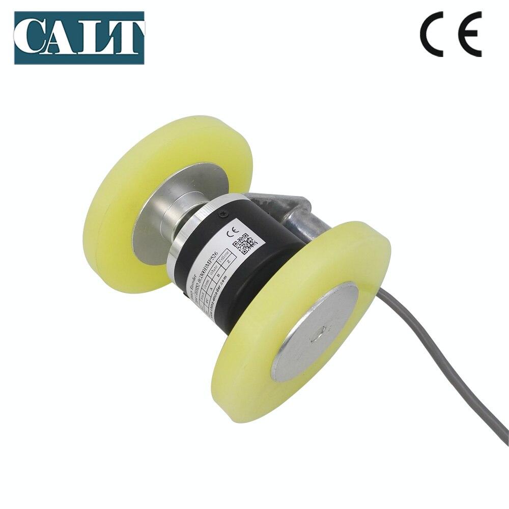 CALT Hot Sale Wheel Type Rotary Encoder 300mm Perimeter DC 5V Non-Slip Wheel Encoder Meter Counter Replace Autonics ENC цены