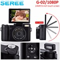 "Seree Compact Digital Camera 24MP 4X Digital Zoom 3"" Rotatable Screen Semi Pro Photo Video Recorder Camcorder 52mm Lens Screw"