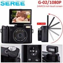 "Seree Compact Digital Camera 24MP 4X Digital Zoom 3"" Rotatable Screen Semi Pro Photo Video Recorder Camcorder 52mm Lens Screw"