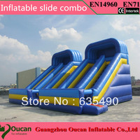 PVC6X4X5m 2016 free shipping commercial grade cheap giant inflatable slide for sale