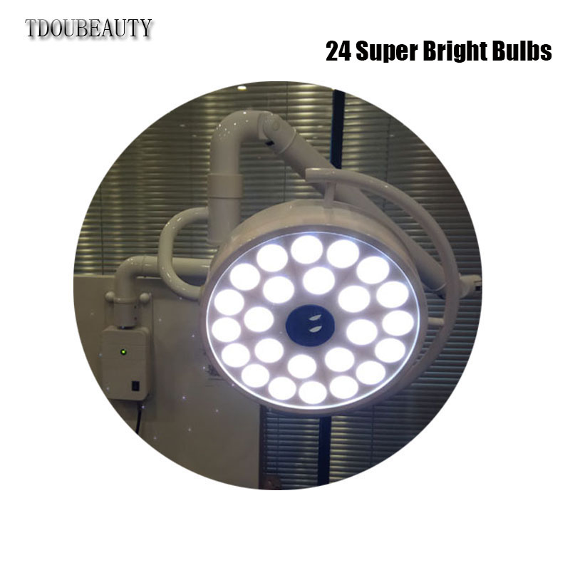 72W LED Stomatology Cold Light Shadowless Lamp Surgical Wall-Mounted Lamp Beauty Tattoo Pet Surgery Shadowless Light FreeFreight