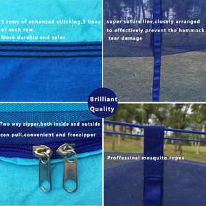 Image 4 - Dropshipping 1 2 Person Outdoor Mosquito Net Parachute Hammock Camping Hanging Sleeping Bed Swing Portable Double Chair Hamac