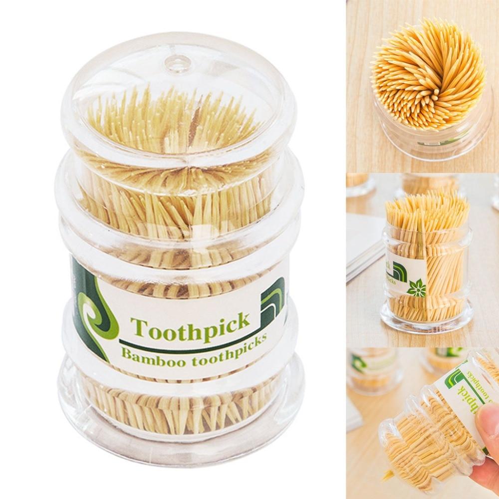 250 Teile/schachtel Zwei Köpfe Stick Bambus Zahnstocher Party Lebensmittel Obst Pick Zahn Sauber Für Dental Oral Zähne Pflege #11 Dental Flosser Schönheit & Gesundheit