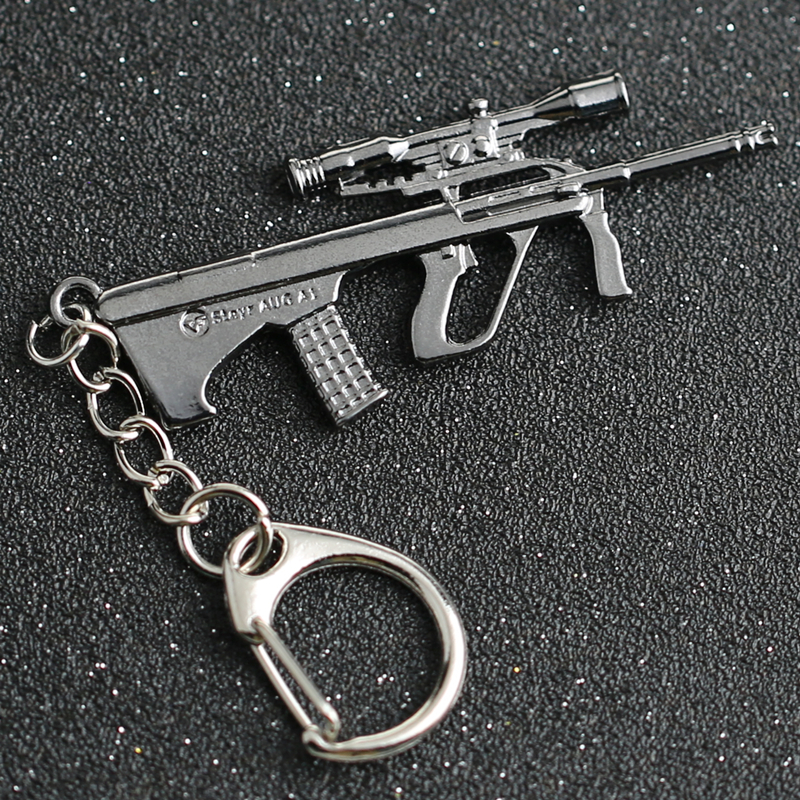 US $0 91 16% OFF|CS GO CSGO CF Keychain Steyr AUG A1 Rifle Gun Weapon  Counter Strike Game Cross Fire Keyring Key Chain Ring Jewelry Wholesale-in  Key