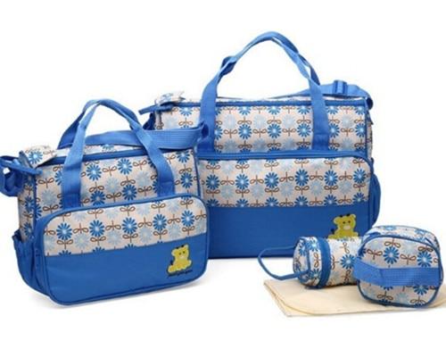 5db / készlet Kiváló minőségű divat Anyatáska Designer Női pelenka táska Multifunkcionális pelenka táska anyu baba tároló mama táskákhoz