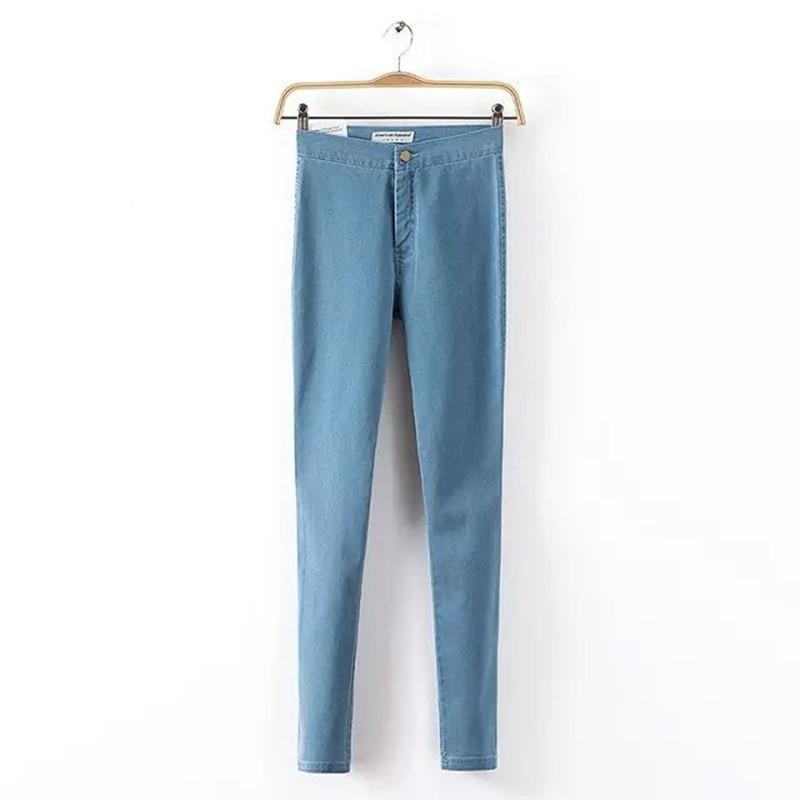 Danjeaner Slim Jeans For Women Skinny High Waist Jeans Woman Blue Denim Pencil Pants Stretch Waist Women Jeans Black Pants