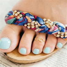 Boho Minimalist Infinite Love Open Toe Ring 8 Shape  Finger Rings For Women Girls Summer Beach Foot Jewelry