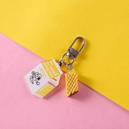 2019 Resina Bonito Mini Sacos cadeia Chave Do Carro Chaveiro Alimentos Simulação Hambúrguer Mulheres Chaveiro Chaveiros Acessórios Pequenos Presentes Pingente