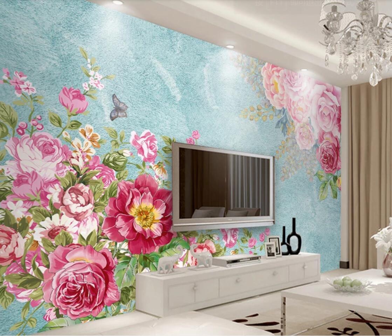 3d Pink Flower Wall Mural For Living Room Bedroom Wallpaper Rolls