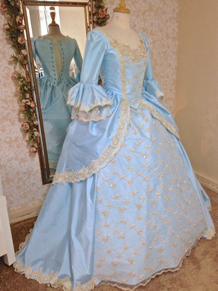 Victorian Gown Marie Antoinette Sparkle Lace And Trim Your Size