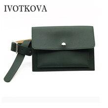 IVOTKOVA 2018 Fashion Women Belt Waist Packs New Leather Female Pouch Fanny Bags Brand Lady Shoulder Chest Packs Women Purses