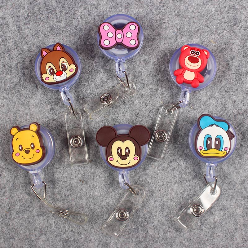 13 Kind Styles Cute Funny Mouse Retractable Creative Badge Reel Students Nurse Exhibition Enfermera Name Card Chest  Card Holder