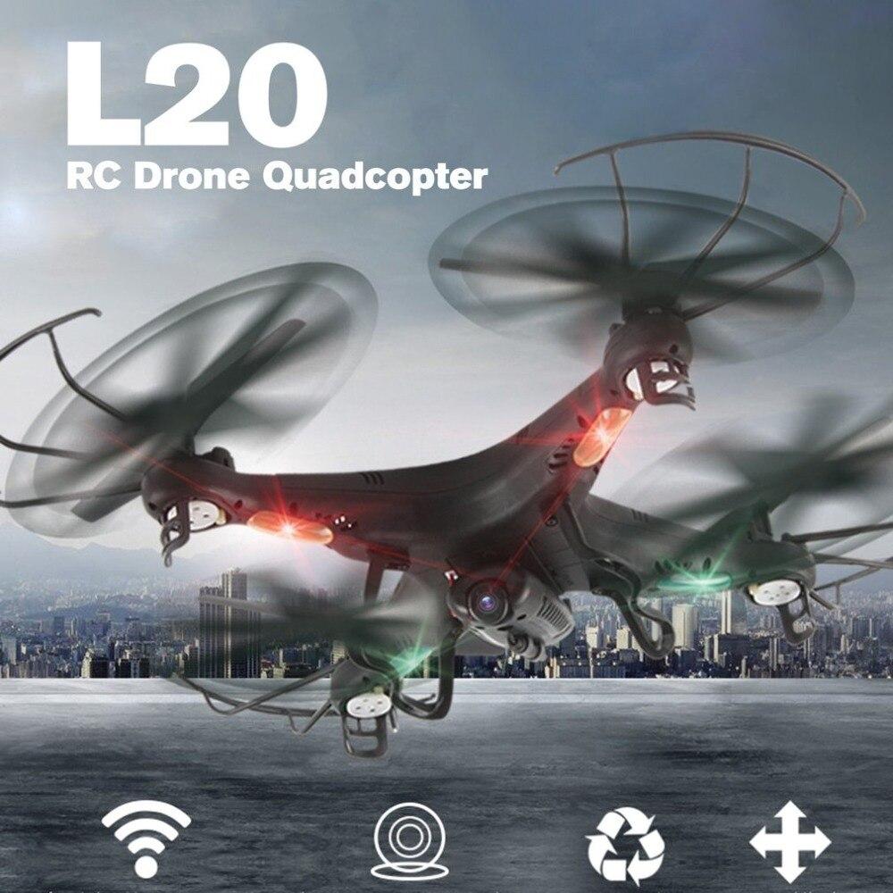 OCDAY L20 intelligent Selfie FPV RC Drone quadrirotor avion aéronef sans pilote (UAV) avec en temps réel 0.3MP caméra caméra sans tête Mode 3D-flip