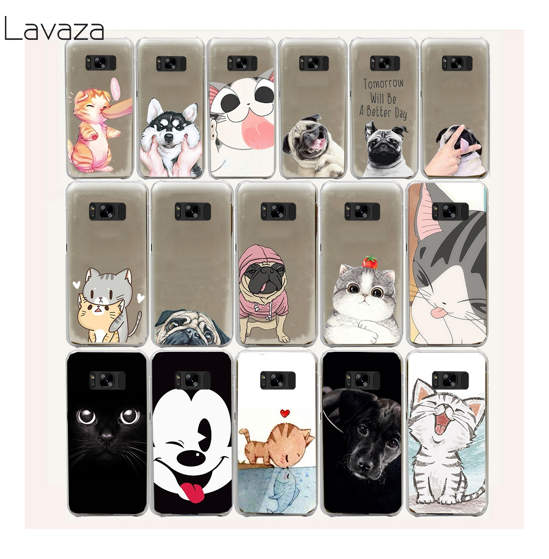 Lavaza 18FF new Pug Dog cat Design Hard Case for Samsung Galaxy S8 S9 Plus S7 S6 Edge S5 S4 S3 S2 Mini Plus ...