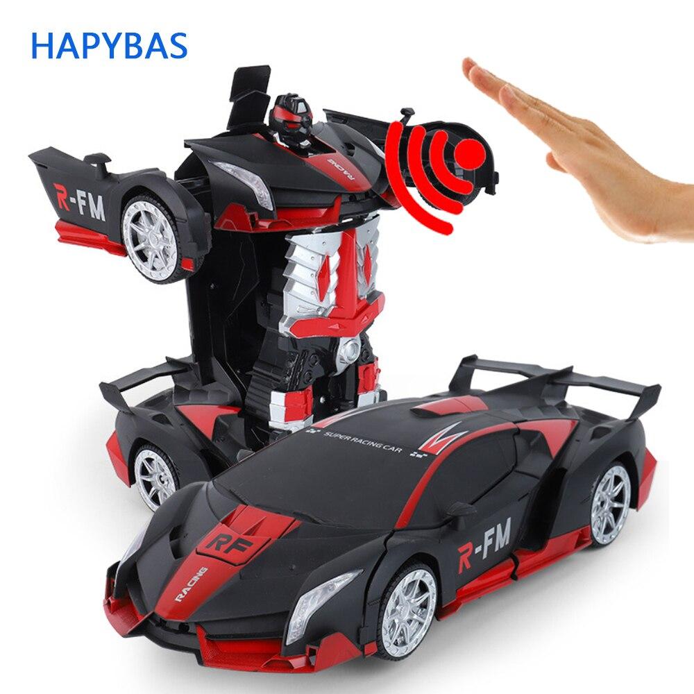 Haute qualité RC voiture 1:12 grand geste détection électrique Transformation Robots voitures de sport dérive modèle télécommande voiture jouet